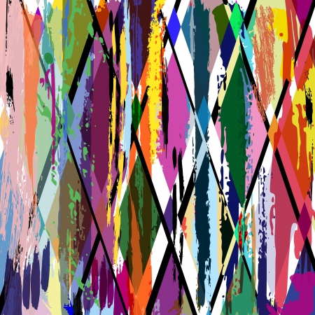abstract background illustration, with strokes, splashes and geometric lines Stock Illustration - 19061188
