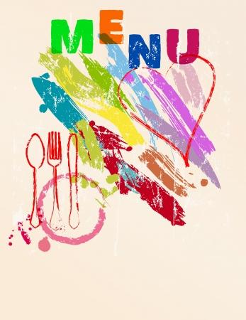 restaurant menu, free space for logo or copy Illustration