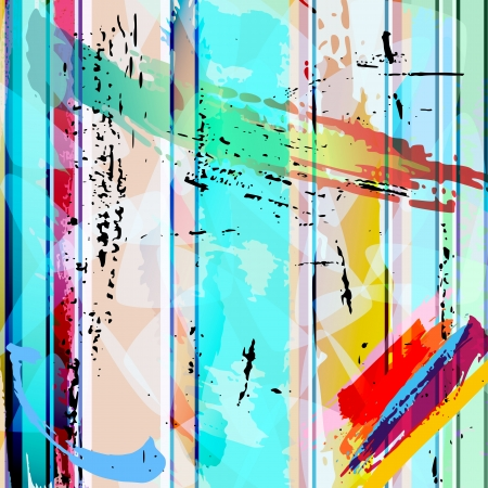 abstract background composition, with strokes, splashes and triangle