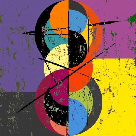 Abstrakte Kreis Hintergrund, Retro / Vintage-Stil mit Pinselstriche und Spritzer, grungy Standard-Bild - 23754308