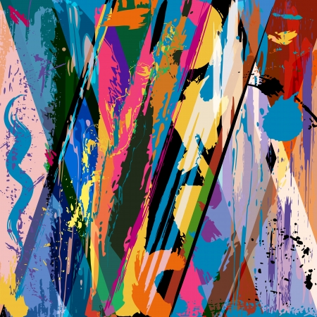 graffiti art: abstract background composition, with paint strokes and splashes