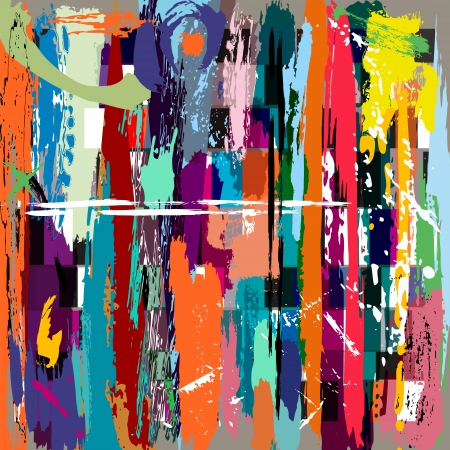 abstract background, with squares, paint strokes and splashes