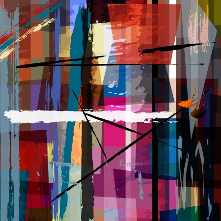 the trapeze: abstract background, with paint strokes, splashes and trapeze