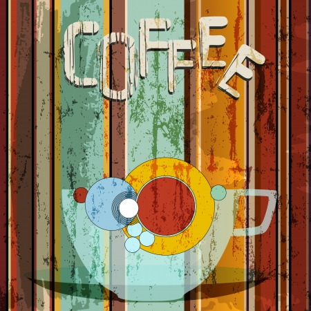 coffee illustration, menu   advertising design, free copy space Vector