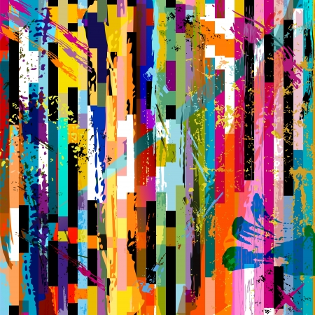 abstract background, with paint strokes, splashes and geometric lines