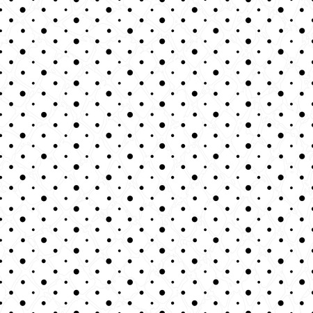 polka dots pattern, seamless with grunge background, retro style, black and white