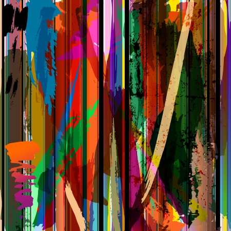 rainbow stripe: abstract background, with paint strokes, splashes and stripes Illustration