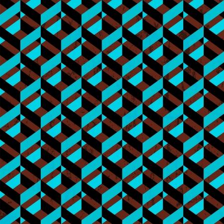 asymmetric: retro abstract geometric pattern background, vintage style Illustration