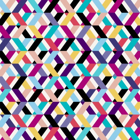 abstract geometric pattern background, retrovintage style Illustration