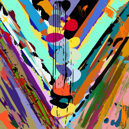 abstract background, with strokes, splashes and geometric lines Vector