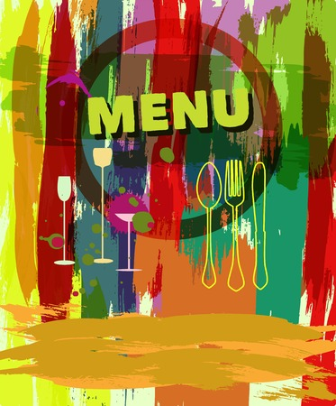 Menu design, vector illustration, free copy space Vector