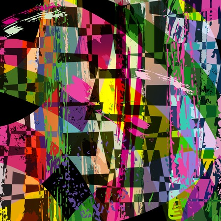 the trapeze: abstract background composition, with strokes, splashes and trapeze Illustration