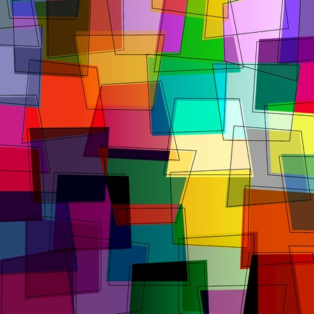 trapeze: abstract colorful background, with trapeze and lines, retro style Illustration