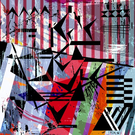 abstract background, with strokes, splashes, stripes and triangles Vector
