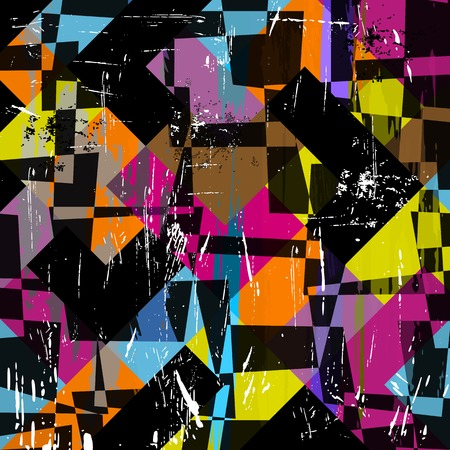 abstract geometric background, with squares, strokes and splashes Vector
