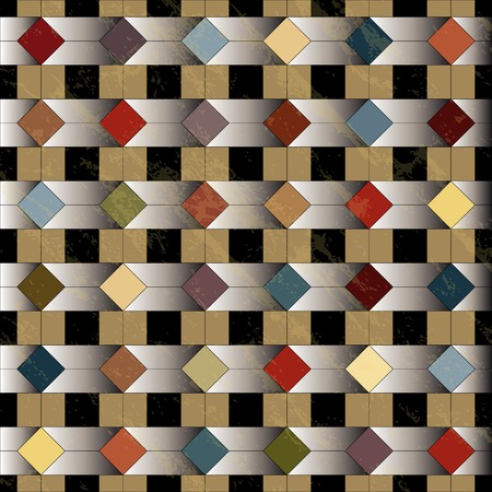 abstract geometric background, retrovintage style, grungy Vector
