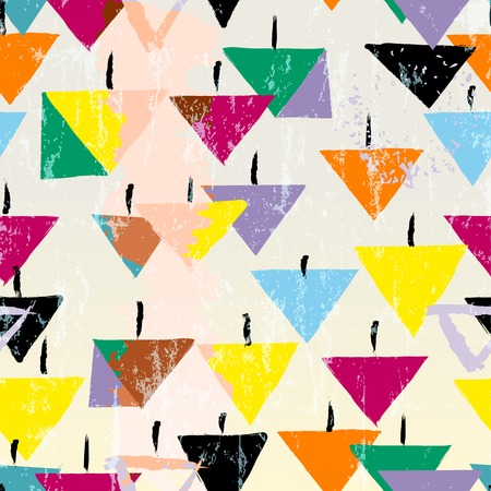 seamless pattern background, with strokes, splashes and triangles