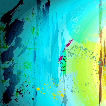 abstract background composition, with paint strokes and splashes Vector