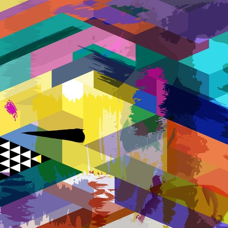 wallpaper vibrant: abstract background composition, with strokes, splashes and triangles