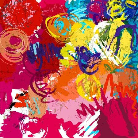 arte abstracto: Fondo colorido abstracto, l�neas y c�rculos, vector