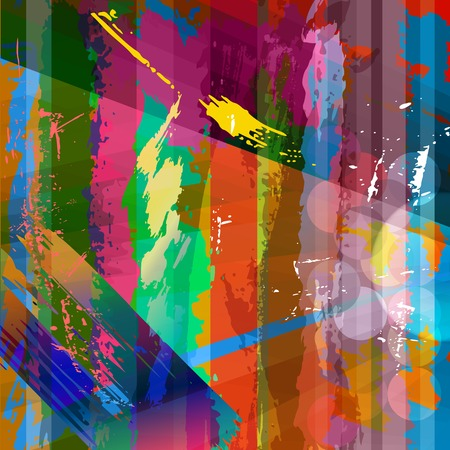 abstract background composition, with strokes, splashes and stripes Vector