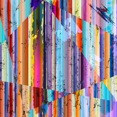 abstract grunge background, with stripes, paint strokes and splashes Illusztráció