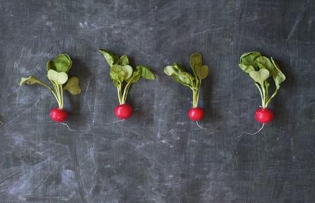 fresh radish, free copy space Reklamní fotografie