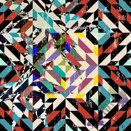 pintura abstracta: fondo abstracto geométrico, con trazos de pintura, salpicaduras, plazas y hojas