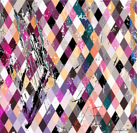 paint strokes: abstract geometric pattern background, with paint strokes, splashes and trianglesrhombus