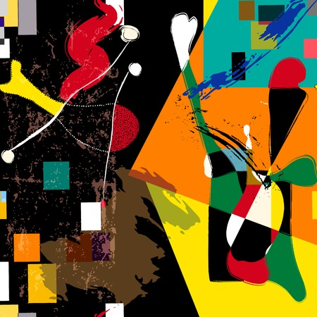 paint strokes: abstract background composition, with paint strokes and splashes