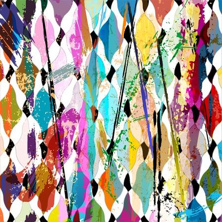 abstracte achtergrond, met slagen, spatten en geometrische lijnen