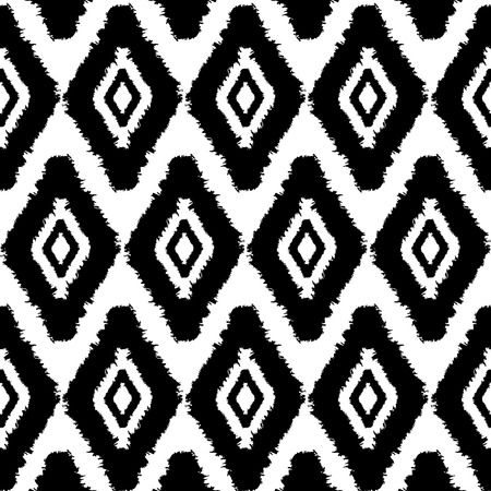 sophisticate: abstract pattern background,with paint strokes and rhombusdiamonds, black and white