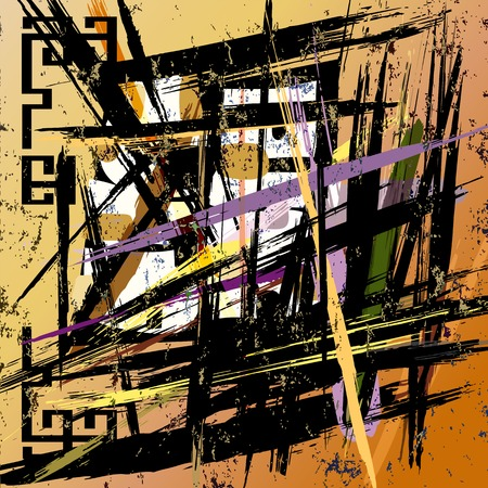 paint strokes: abstract grunge background, with paint strokes and splashes