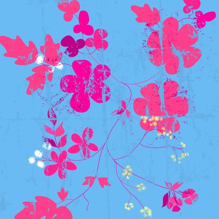 flower power: abstract flower power background, illustration with strokes and splashes