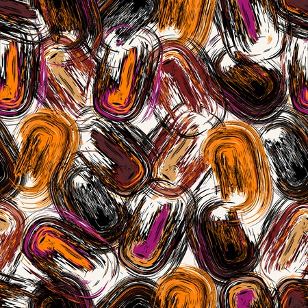 abstract art background: seamless background pattern, with circlesoval and strokes, grungy Illustration