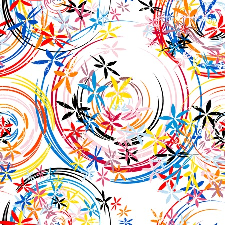 pink floral: seamless background pattern, with circlesoval, paint strokes and splashes, grungy