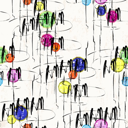 paint strokes: abstract background, illustration with paint strokes and splashes, seamless