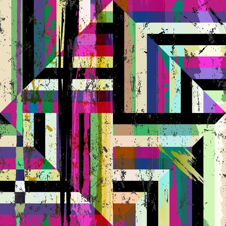 abstract geometric pattern background, with stripes, strokes and splashes