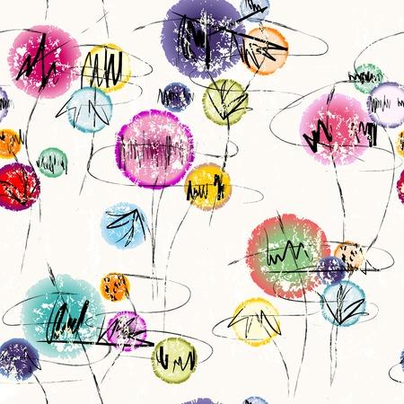 graffiti: fondo abstracto, ilustración con trazos de pintura y salpicaduras, sin fisuras Vectores