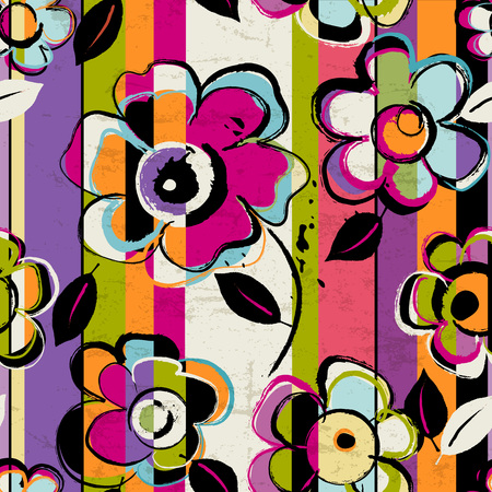 シームレスな抽象的な背景合成は、ペイント ストローク、水しぶきや花、シームレスです  イラスト・ベクター素材