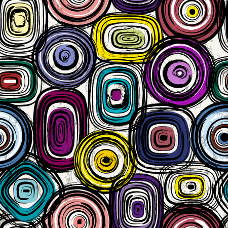 circle background: seamless background pattern, with circlesoval, strokes and splashes