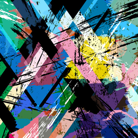 geometric lines: abstract background, with strokes, splashes and geometric lines, grungy