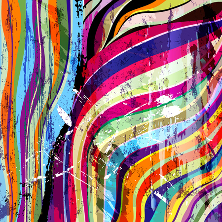 paint strokes: abstract background composition, with waves, paint strokes and splashes Illustration