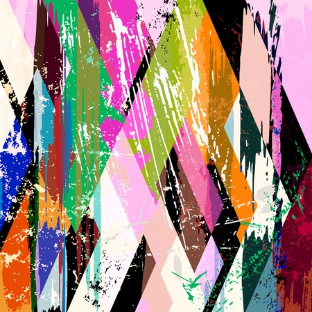 paint strokes: abstract background composition with paint strokes, splashes, stripes and rhomb