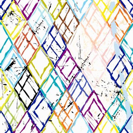lineas horizontales: fondo sin patrón, con triángulos, golpes y salpicaduras Vectores