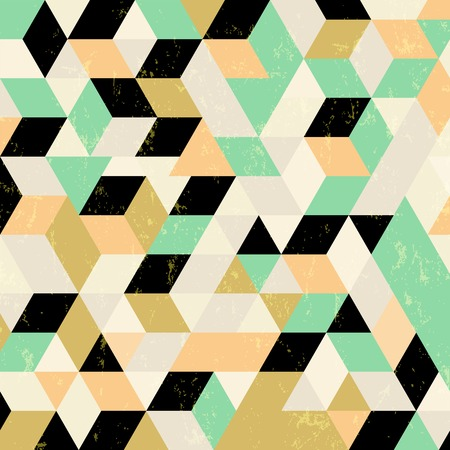 trapeze: abstract geometric background, with squares, triangles, strokes and splashes Illustration