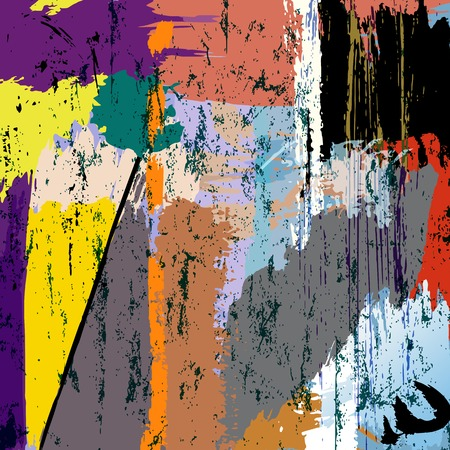 paint strokes: abstract background composition with paint strokes and splashes