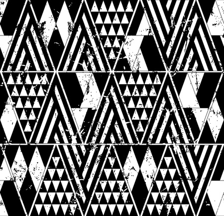 abstract geometric background pattern, with triangles and stripes, black and white