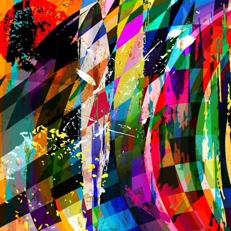 canvas art: abstract background composition, with strokes, splashes, stripes and triangles