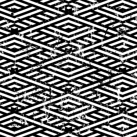 trapeze: abstract geometric pattern background, with strokes and splashes, black and white